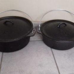 no 12 and 14 flat bottom pots